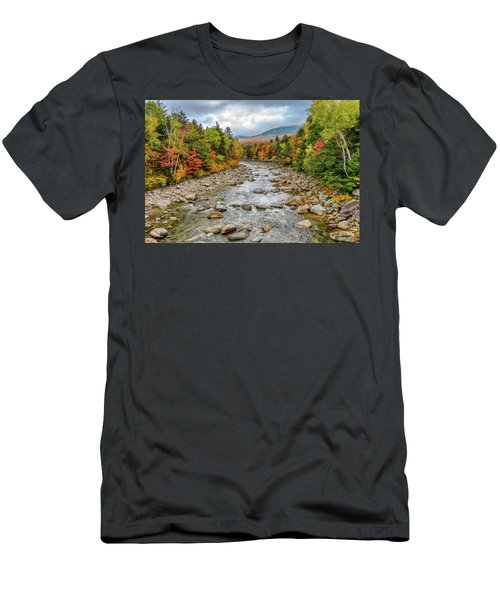 Men's T-Shirt (Athletic Fit) featuring the photograph Autumn On The Kanc. Nh by Michael Hubley