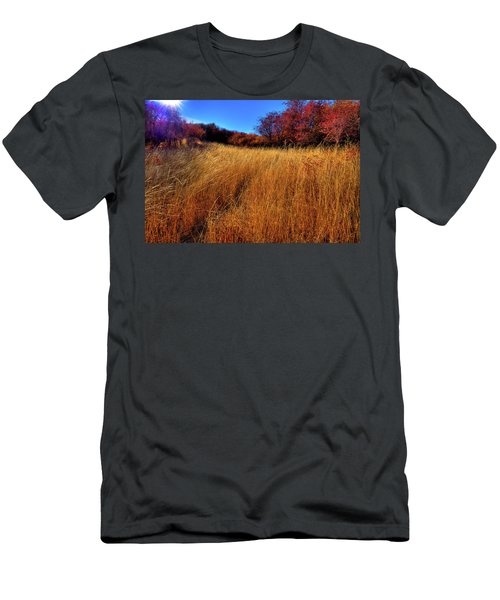 Men's T-Shirt (Athletic Fit) featuring the photograph Autumn Path by David Patterson
