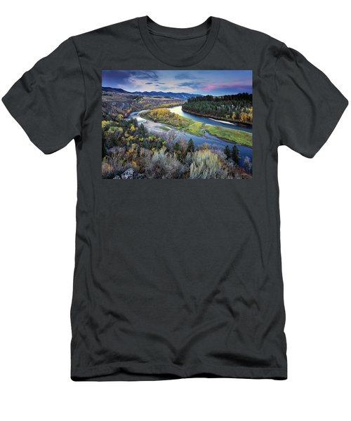 Autumn River Men's T-Shirt (Athletic Fit)