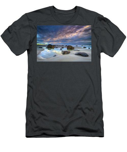 Men's T-Shirt (Athletic Fit) featuring the photograph Autumn Sky At Wells Beach by Rick Berk
