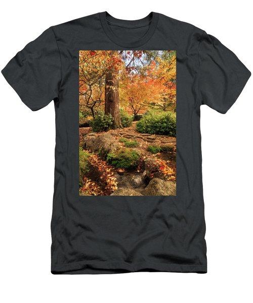 Autumn Stream In Lithia Park Men's T-Shirt (Athletic Fit)