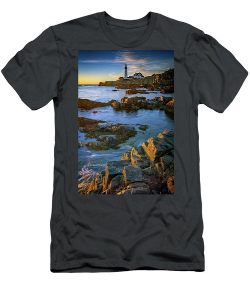 Men's T-Shirt (Athletic Fit) featuring the photograph Autumn Tranquility At Portland Head by Rick Berk