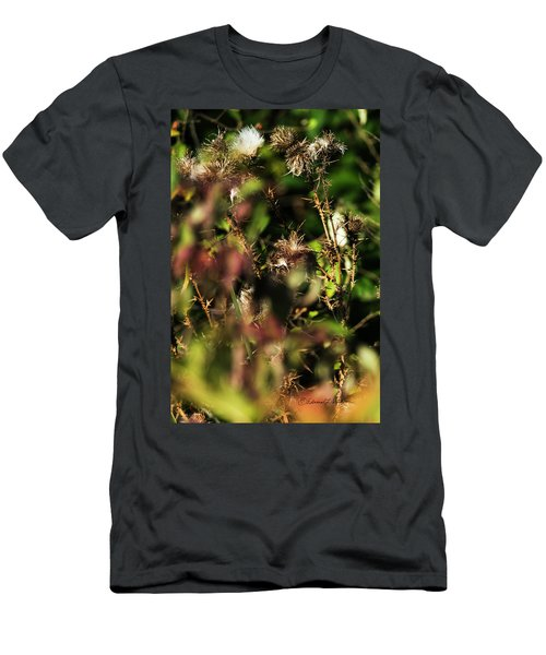Men's T-Shirt (Athletic Fit) featuring the photograph Autumn Weeds by Edward Peterson