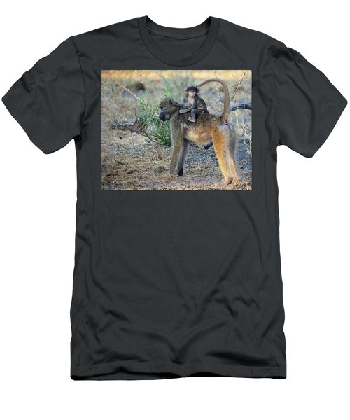 Baboon And Baby Men's T-Shirt (Athletic Fit)