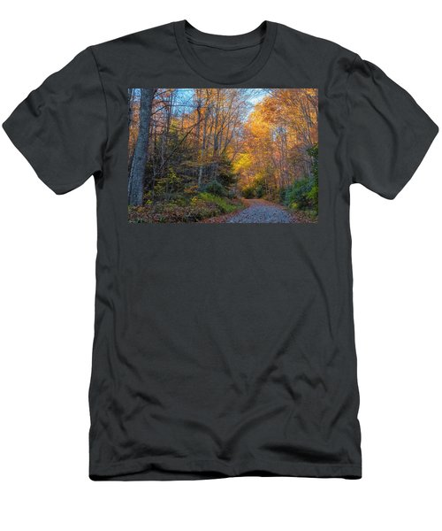 Men's T-Shirt (Athletic Fit) featuring the photograph Back Road Beauty by Russell Pugh