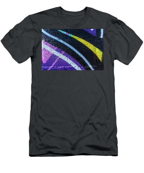 Background With Wall Texture Painted With Colorful Lines. Men's T-Shirt (Athletic Fit)