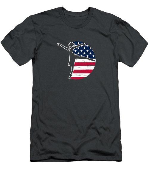 Ballet Dacner Ballerina American Patriotic 4th Of July Gift Premium T-shirt Men's T-Shirt (Athletic Fit)