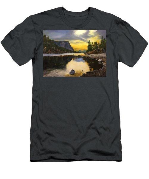 Bow River Sunrise  Men's T-Shirt (Athletic Fit)
