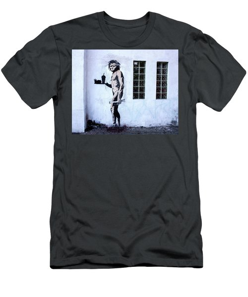 Men's T-Shirt (Athletic Fit) featuring the photograph Bansky Fast Food Caveman Los Angeles by Gigi Ebert