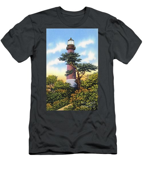 Men's T-Shirt (Athletic Fit) featuring the photograph Barnegat Light by Mark Miller