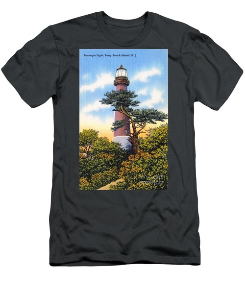 Barnegat Light - With Text Men's T-Shirt (Athletic Fit)