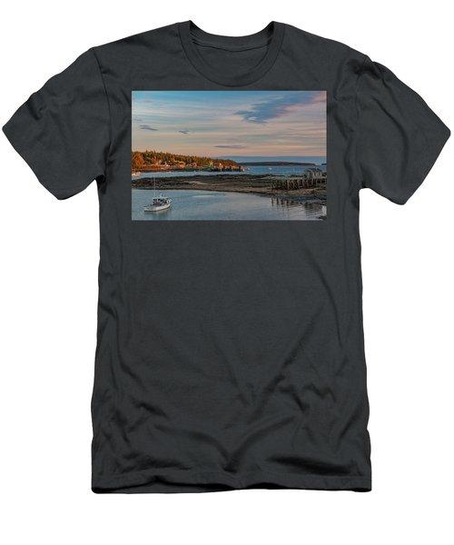 Bass Harbor Sunset Men's T-Shirt (Athletic Fit)