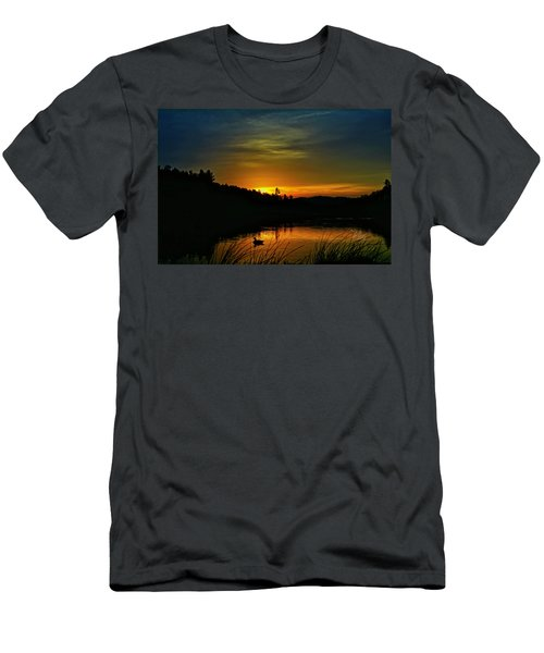 Bass Lake Sunrise Duck Men's T-Shirt (Athletic Fit)