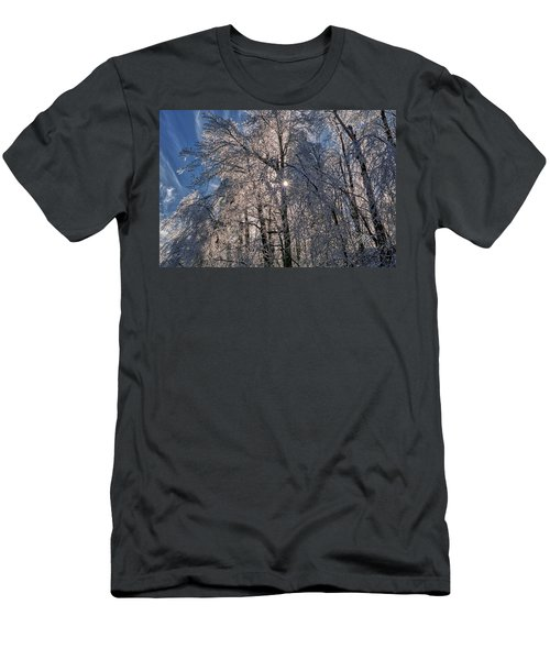 Bass Lake Trees Frozen Men's T-Shirt (Athletic Fit)