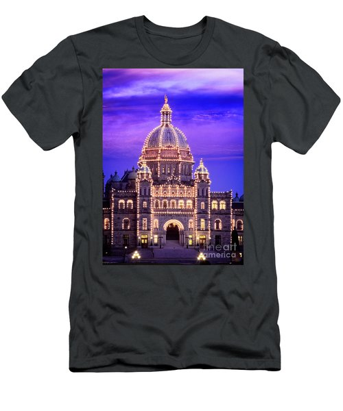 Men's T-Shirt (Athletic Fit) featuring the photograph Bc Parliament by Scott Kemper