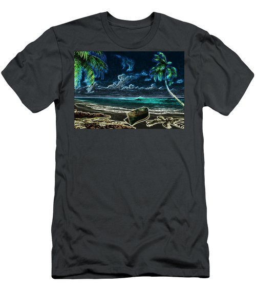 Beach At Night Men's T-Shirt (Athletic Fit)