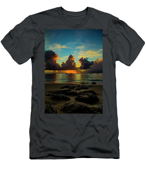Men's T-Shirt (Athletic Fit) featuring the photograph Beach At Sunset 2 by Stuart Manning