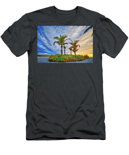 Men's T-Shirt (Athletic Fit) featuring the photograph Beach Sunrise Over The Palms by Lynn Bauer