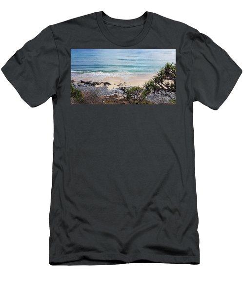 Beautiful Noosa Beach  Men's T-Shirt (Athletic Fit)