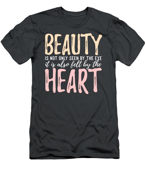 Beauty Heart Men's T-Shirt (Athletic Fit)