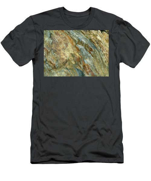 Men's T-Shirt (Athletic Fit) featuring the photograph Bedrock Of Ages 5 by Lynda Lehmann
