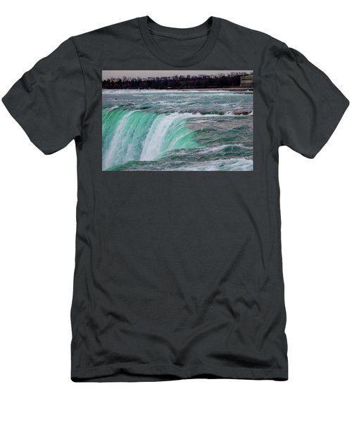 Men's T-Shirt (Athletic Fit) featuring the photograph Before The Falls by Lora J Wilson