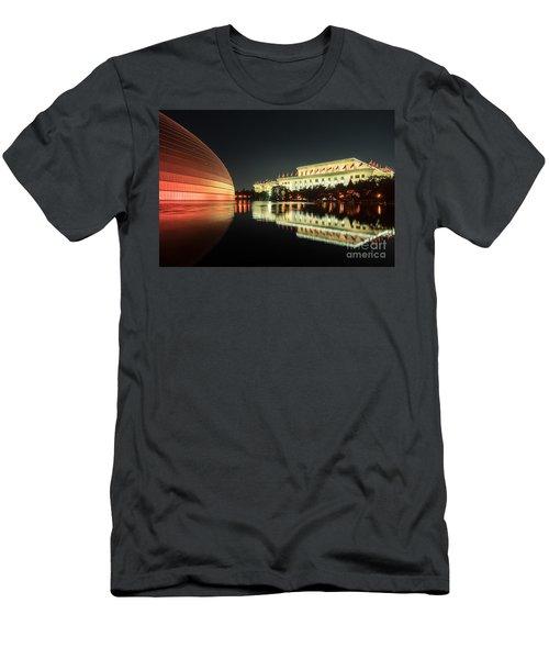 Beijing Art Center  Men's T-Shirt (Athletic Fit)