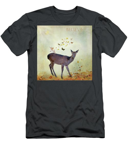 Men's T-Shirt (Athletic Fit) featuring the digital art Believe by Sue Collura