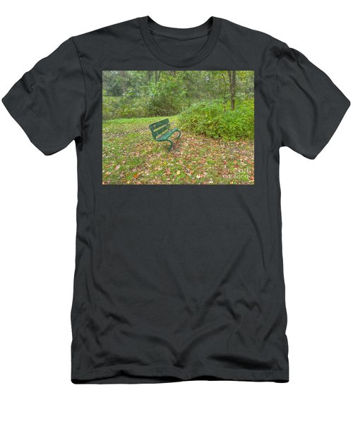 Bench Overlooking Pine Quarry Men's T-Shirt (Athletic Fit)