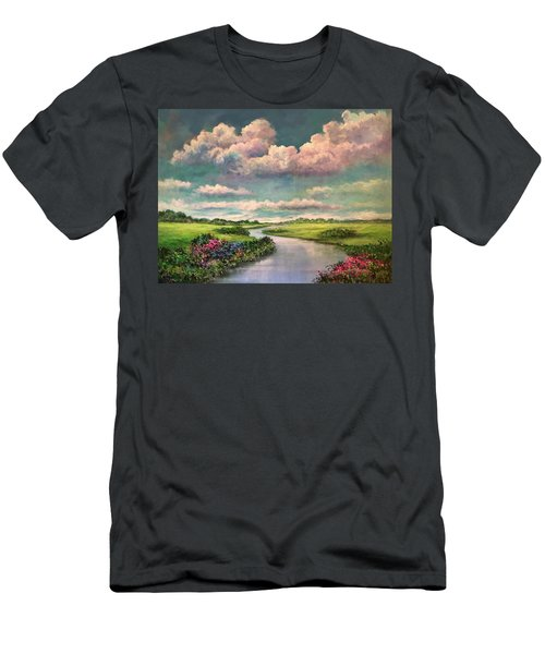 Beneath The Clouds Of Paradise Men's T-Shirt (Athletic Fit)