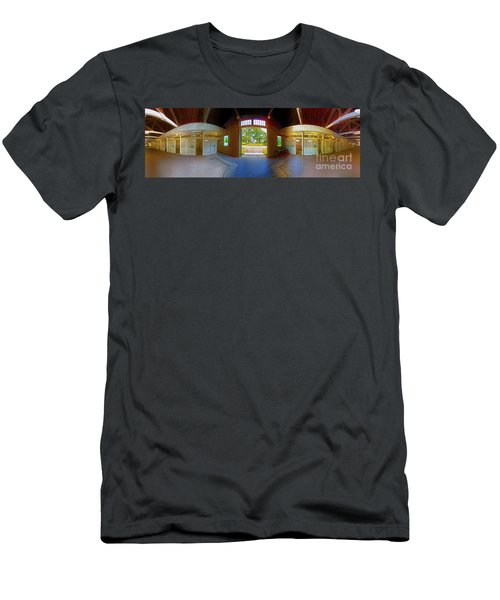 Men's T-Shirt (Athletic Fit) featuring the photograph Big Barn Kentucky Horse Park 360 by Tom Jelen