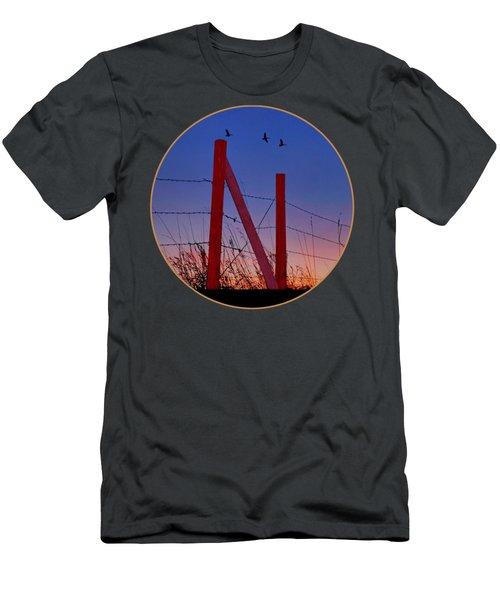 Big Red - Nebraska - Transparent Men's T-Shirt (Athletic Fit)