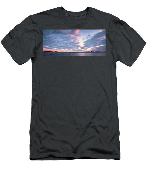 Big Sky Over Portsmouth Light. Men's T-Shirt (Athletic Fit)