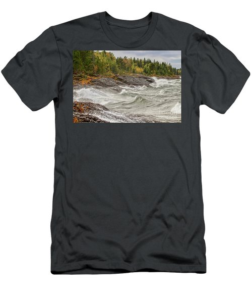 Big Waves In Autumn Men's T-Shirt (Athletic Fit)