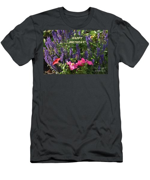 Birthday Flowers Men's T-Shirt (Athletic Fit)