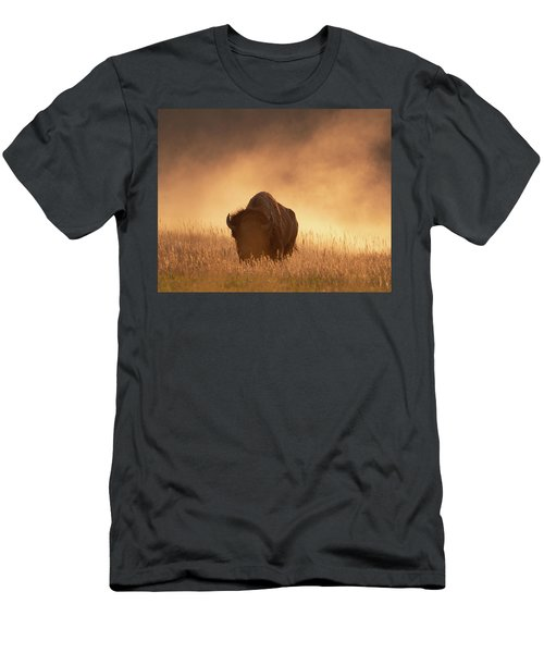 Bison In The Dust 2 Men's T-Shirt (Athletic Fit)