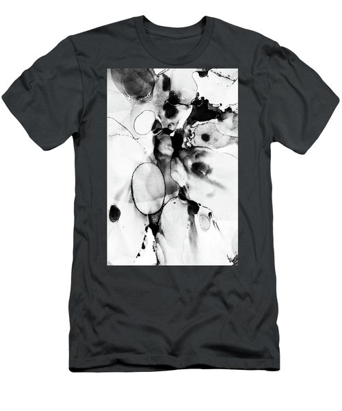 Black And White Abstract Men's T-Shirt (Athletic Fit)