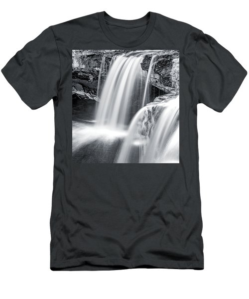 Men's T-Shirt (Athletic Fit) featuring the photograph Black And White Ludlow Falls by Dan Sproul
