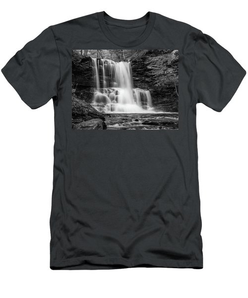 Black And White Photo Of Sheldon Reynolds Waterfalls Men's T-Shirt (Athletic Fit)