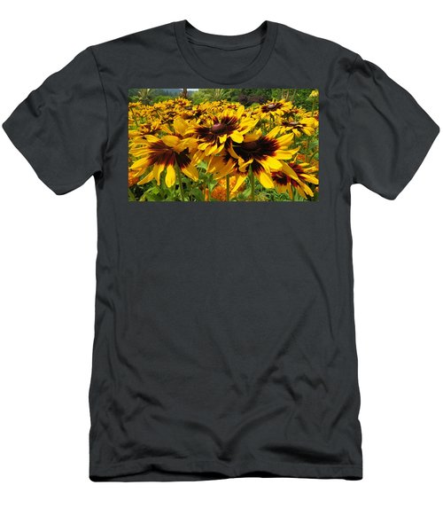 Black-eyed Susan In Your Face Men's T-Shirt (Athletic Fit)