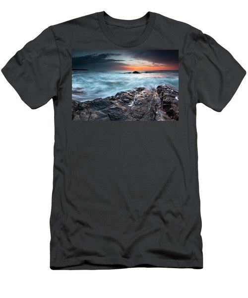 Black Sea Rocks Men's T-Shirt (Athletic Fit)