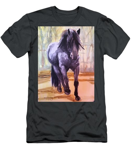 Black Stallion Men's T-Shirt (Athletic Fit)
