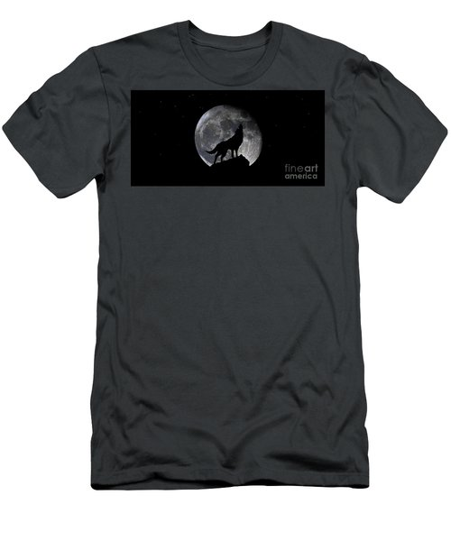 Pre Blood Red Wolf Supermoon Eclipse 873r Men's T-Shirt (Athletic Fit)
