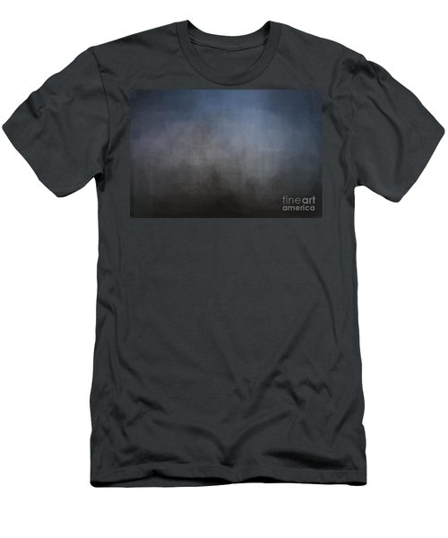 Blue Gray Abstract Background With Blurred Geometric Shapes. Men's T-Shirt (Athletic Fit)