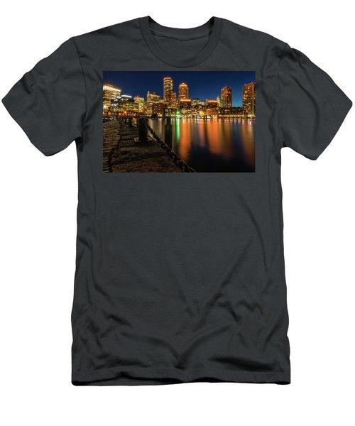 Blue Hour At Boston's Fan Pier Men's T-Shirt (Athletic Fit)