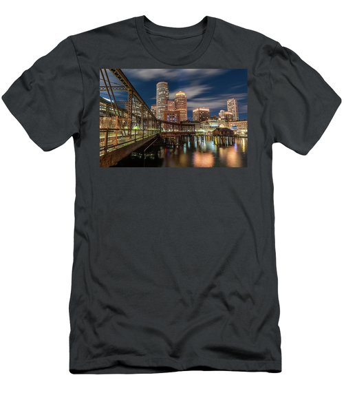 Blue Hour In Boston Harbor Men's T-Shirt (Athletic Fit)
