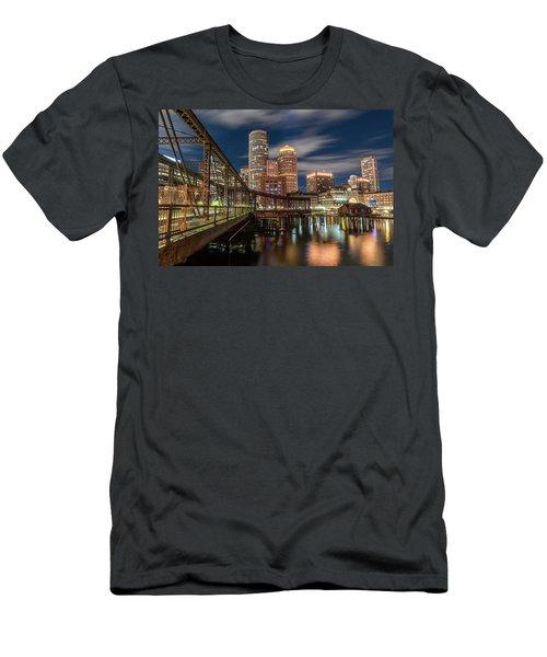Blue Hour In Boston Harbor Men's T-Shirt (Athletic Fit)