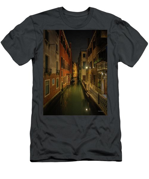 Men's T-Shirt (Athletic Fit) featuring the photograph Blue Hour In Venice by Tim Bryan