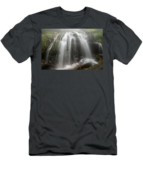 Blue Ridge Mountain Falls Men's T-Shirt (Athletic Fit)