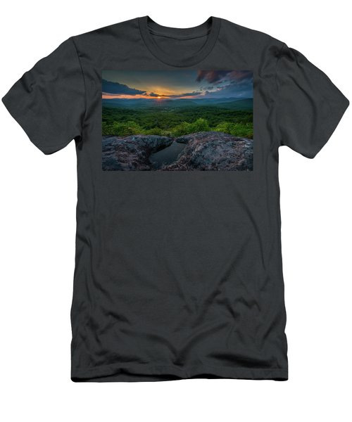 Blue Ridge Mountain Sunset Men's T-Shirt (Athletic Fit)
